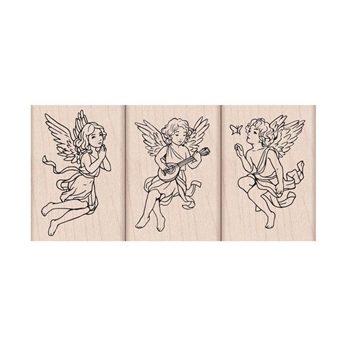 Hero Arts Rubber Stamps ANGEL TRIO LP460