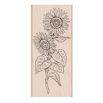 Hero Arts Rubber Stamps FLORALS SUNFLOWER STEM K6289