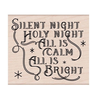 Hero Arts Rubber Stamps SILENT NIGHT MESSAGE H6297
