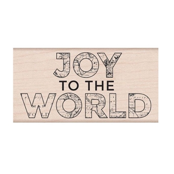 Hero Arts Rubber Stamp JOY TO THE WORLD H6293