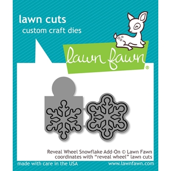 RESERVE Lawn Fawn REVEAL WHEEL ADD-ON SNOWFLAKE Die Cuts LF1794