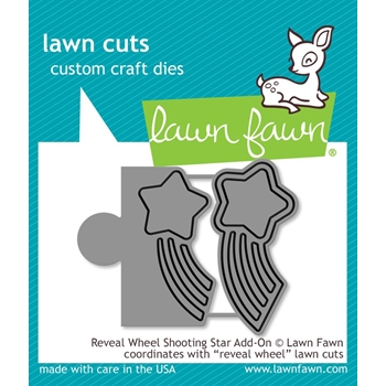 RESERVE Lawn Fawn REVEAL WHEEL ADD-ON SHOOTING STAR Die Cuts LF1792