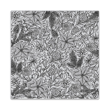 Hero Arts Cling Stamp HOLIDAY FOLIAGE BOLD PRINT CG744