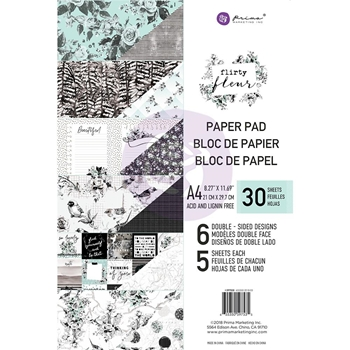 Prima Marketing A4 Paper Pad FLIRTY FLEUR 597535