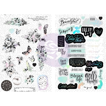 Prima Marketing FLIRTY FLEUR Chipboard Stickers 597573