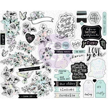 Prima Marketing FLIRTY FLEUR Sticker Sheets 597634