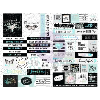 Prima Marketing FLIRTY FLEUR Word & Quote Stickers 597658
