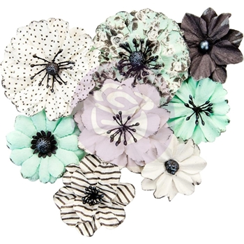 Prima Marketing GREY & MINT Flirty Fleur Flowers 634469
