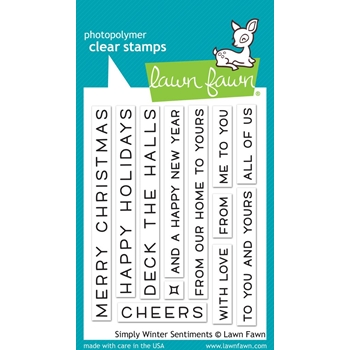 RESERVE Lawn Fawn SIMPLY WINTER SENTIMENTS Clear Stamps LF1771
