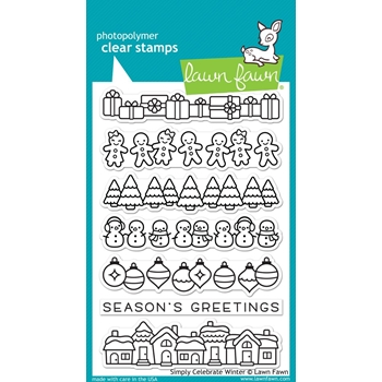 RESERVE Lawn Fawn SIMPLY CELEBRATE WINTER Clear Stamps LF1769