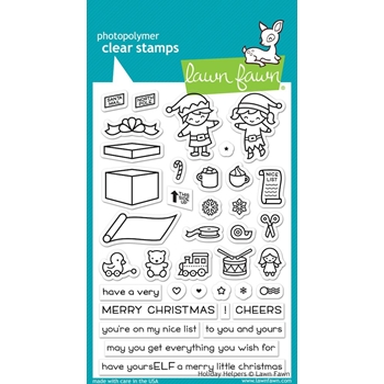 RESERVE Lawn Fawn HOLIDAY HELPERS Clear Stamps LF1767