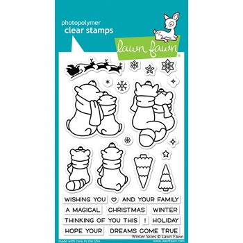 RESERVE Lawn Fawn WINTER SKIES Clear Stamps LF1763