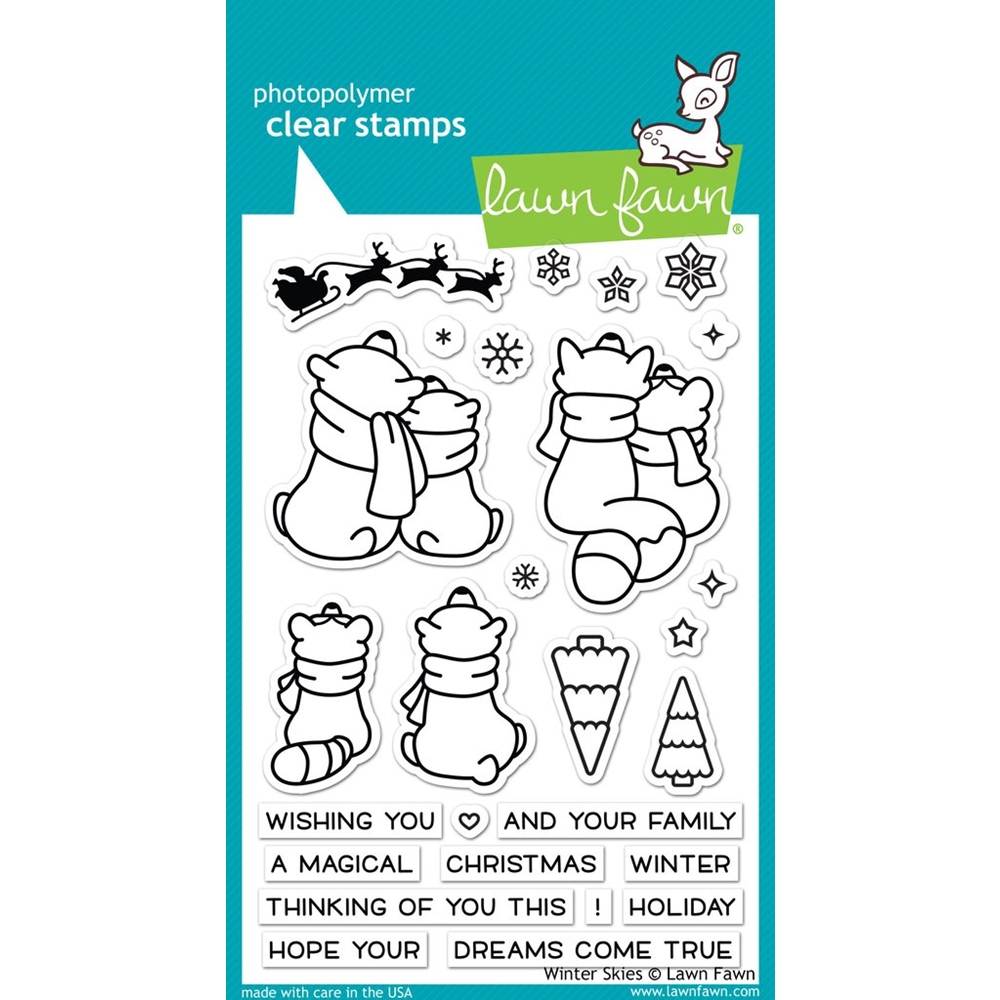 Lawn Fawn WINTER SKIES Clear Stamps LF1763 zoom image