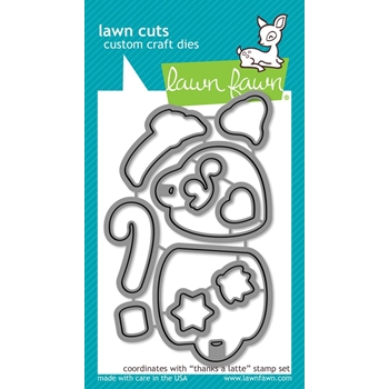 RESERVE Lawn Fawn THANKS A LATTE Die Cuts LF1762