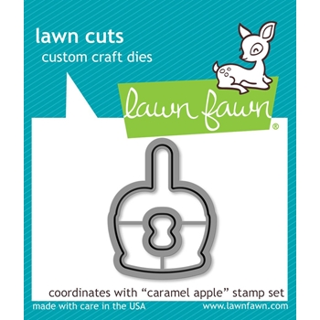 Lawn Fawn CARAMEL APPLE Die Cuts LF1760
