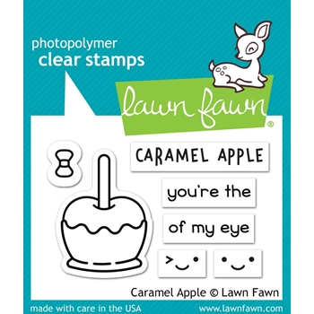 RESERVE Lawn Fawn CARAMEL APPLE Clear Stamps LF1759