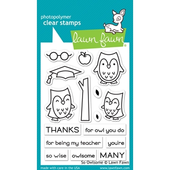 RESERVE Lawn Fawn SO OWLSOME Clear Stamps LF1757