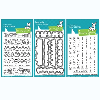 RESERVE Lawn Fawn SET SIMPLY CELEBRATE WINTER Clear Stamps and Dies BLFSCW