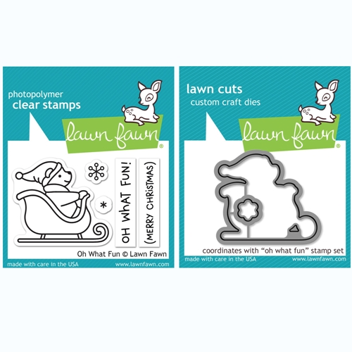 Lawn Fawn 'Oh What Fun' Stamp and Die Set