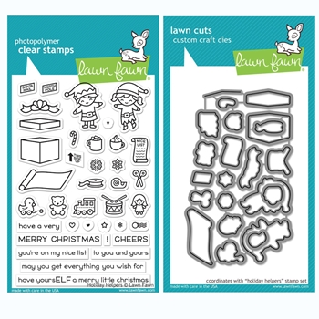 Lawn Fawn SET HOLIDAY HELPERS Clear Stamps and Dies BLFHH