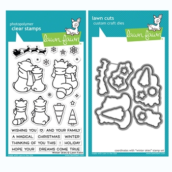 RESERVE Lawn Fawn SET WINTER SKIES Clear Stamps and Dies BLFWS
