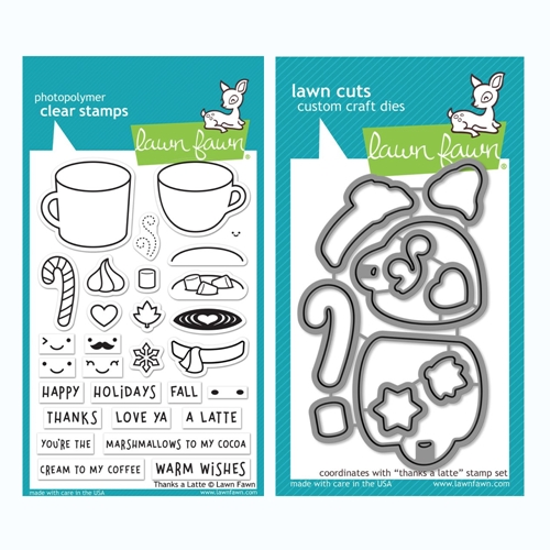 Lawn Fawn SET THANKS A LATTE Clear Stamps and Dies BLFTAL Preview Image