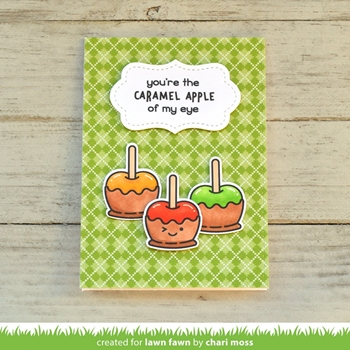 RESERVE Lawn Fawn SET CARAMEL APPLE Clear Stamps and Dies BLFCA