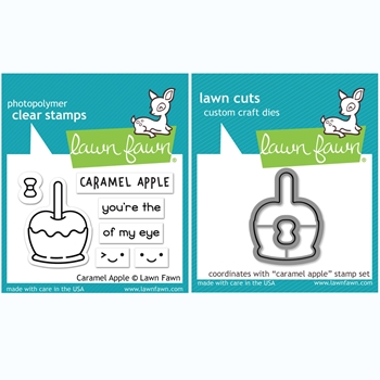 Lawn Fawn SET CARAMEL APPLE Clear Stamps and Dies BLFCA