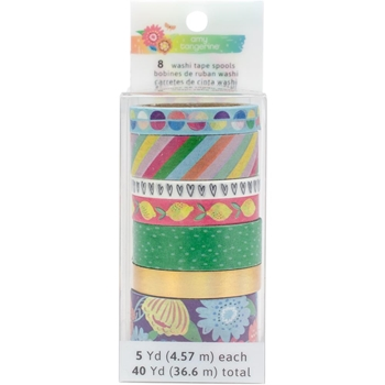 American Crafts Amy Tangerine WASHI TAPE SPOOLS Sunshine and Good Times 345710