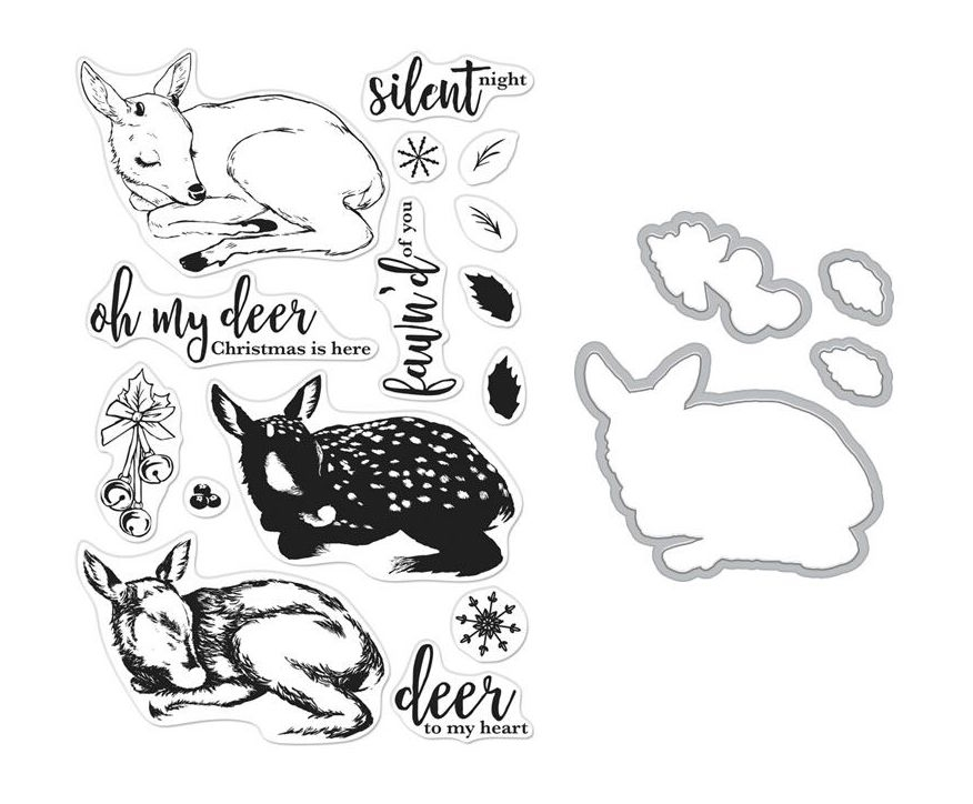 Hero Arts Color Layering FAWN Clear Stamp and Die Bundle SB207 zoom image