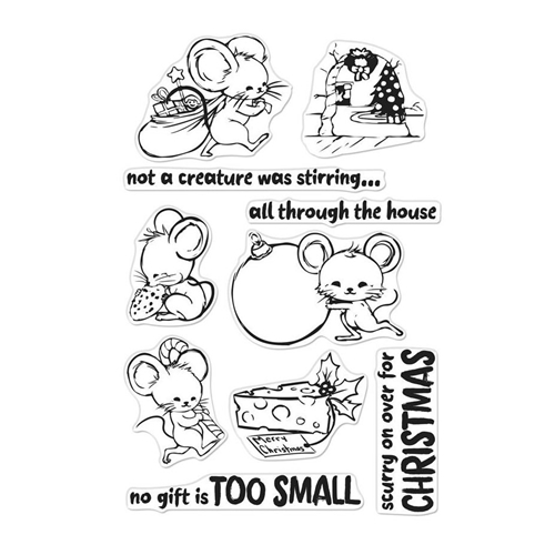 Hero Arts Clear Stamps CHRISTMAS MICE CM281 Preview Image