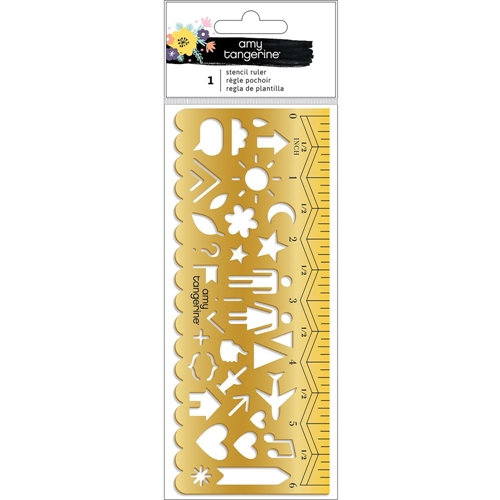 American Crafts Amy Tangerine STENCIL RULER Shine On 348259 Preview Image