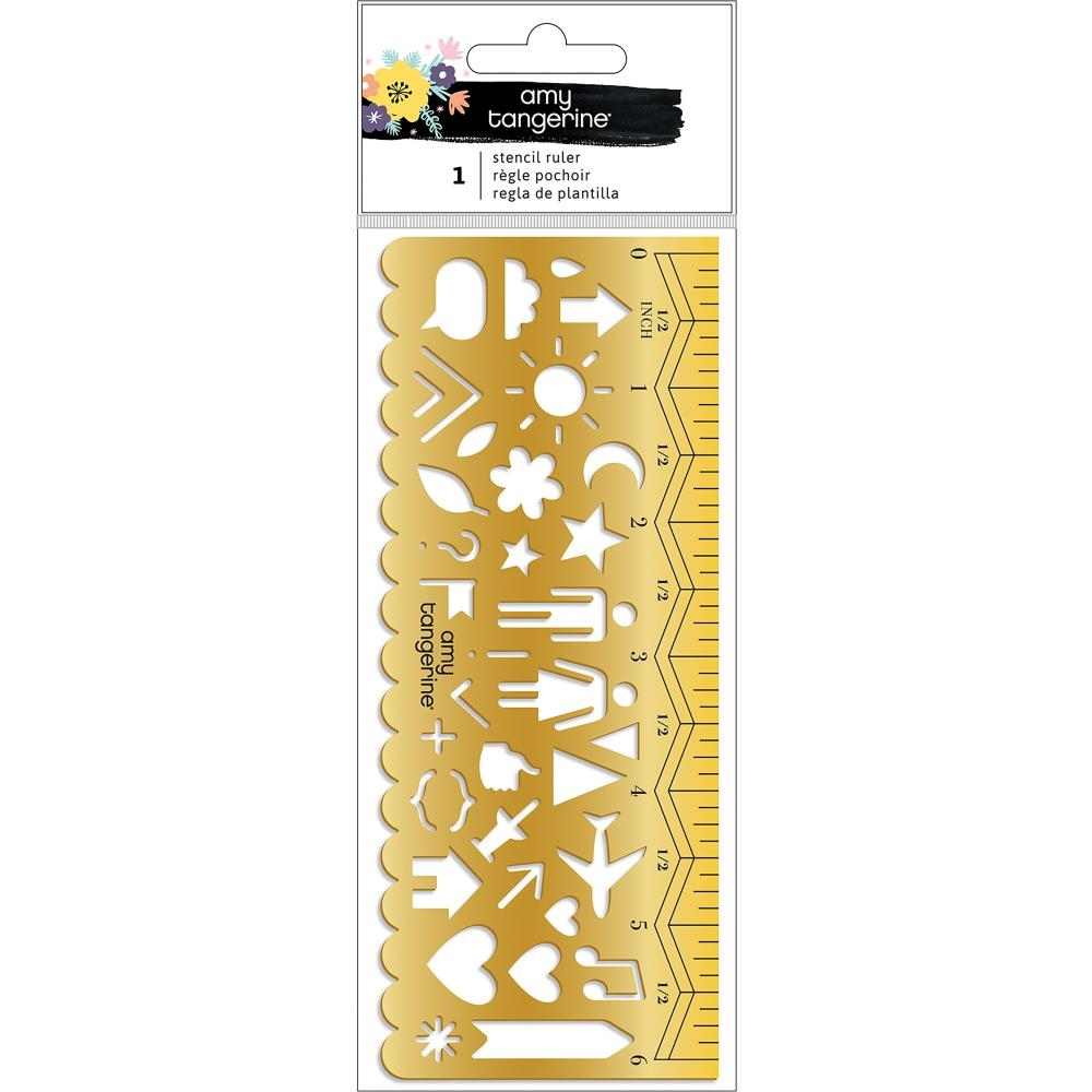 American Crafts Amy Tangerine STENCIL RULER Shine On 348259 zoom image