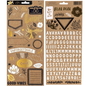 American Crafts Amy Tangerine STICKERS Shine On 348253