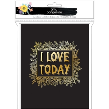 American Crafts Amy Tangerine I LOVE TODAY Notepad Book Shine On 348260