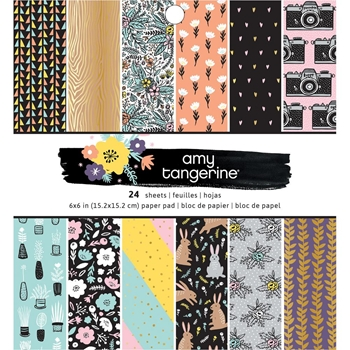 American Crafts Amy Tangerine SHINE ON 6x6 Inch Paper Pad 348247