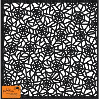 Pebbles Inc. DIE CUT WEB WITH GLITTER 12x12 Inch Specialty Cardstock Spooky Boo 733906
