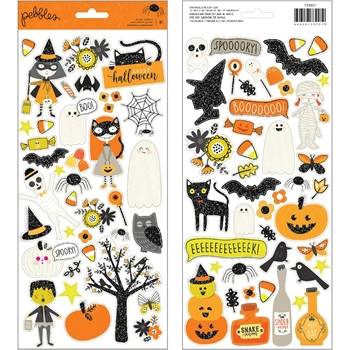 Pebbles Inc. SPOOKY BOO ICONS Cardstock Stickers 733907