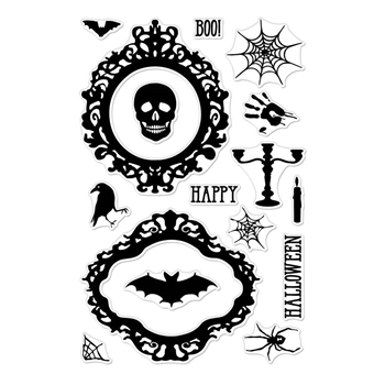Hero Arts Clear Stamps HALLOWEEN MIRROR CM287