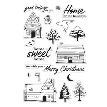 Hero Arts Clear Stamps HOME FOR THE HOLIDAYS CM282