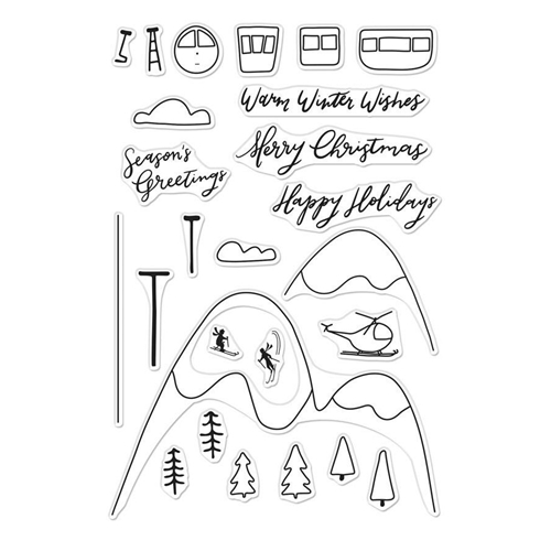 Hero Arts Clear Stamps SKI HOLIDAY CM289 Preview Image