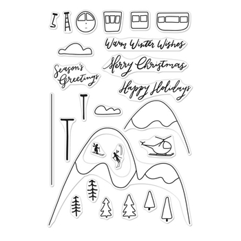 Hero Arts Clear Stamps SKI HOLIDAY CM289