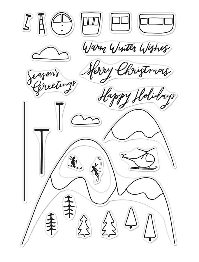 Hero Arts Clear Stamps SKI HOLIDAY CM289 zoom image