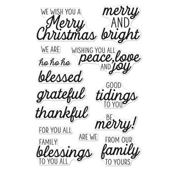 Hero Arts Clear Stamps WINTER HOLIDAY MESSAGES CM293