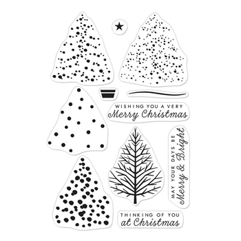 Hero Arts Color Layering Clear Stamps CHRISTMAS TREE CM291