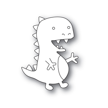 Simon Says Stamp PICTURE BOOK T-REX Wafer Dies s598 Friendly Frolic