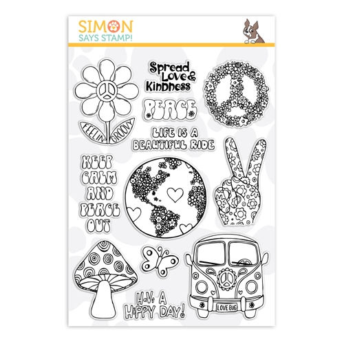 Simon Says Clear Stamps MORE GOOD VIBES sss101920 Friendly Frolic Preview Image