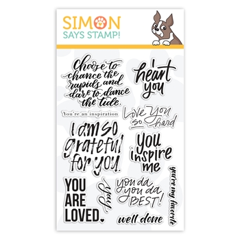 Simon Says Clear Stamps UPLIFTING SENTIMENTS sss101909 Friendly Frolic