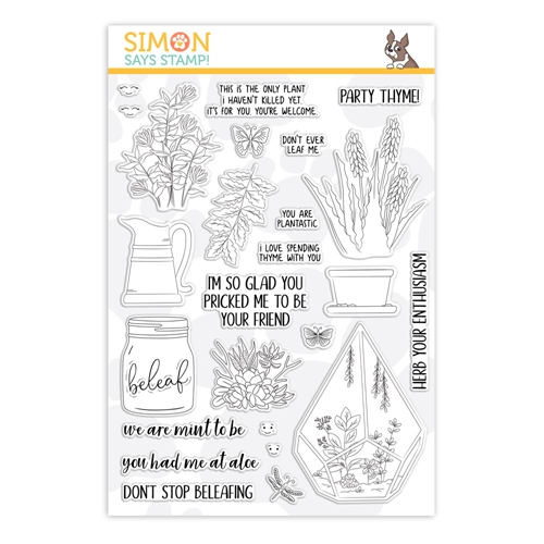 Simon Says Clear Stamps PLANTIFUL PUNS sss101863 Friendly Frolic Preview Image