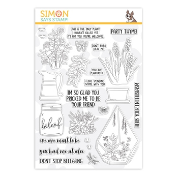 Simon Says Clear Stamps PLANTIFUL PUNS sss101863 Friendly Frolic
